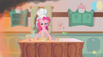 baking gummy on_fire pinkie_pie sagebrushpony wallpaper