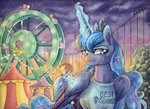ferris_wheel magic princess_luna rollercoaster the-wizard-of-art traditional_art
