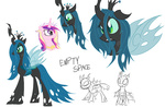 allthebitz changeling princess_cadance queen_chrysalis sketch
