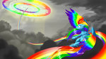 absurdres cloud dstears flying highres rainbow_dash sonic_rainboom