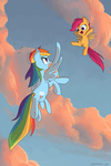 naroclie rainbow_dash scootaloo