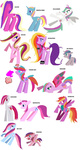 blossomforth cheap_recolors cotton_candy cupcake_(pony) dewdrop_dazzle feathermay highres lulu_luck mecha_gigan mspaint ploomette plumsweet rainbow_flash skywishes_(g4) star_dreams star_swirl sweetie_swirl twinkleshine