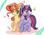 phyllismi princess_twilight shipping sunlight sunset_shimmer twilight_sparkle