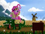 bag flowers goggles gummy highres pinkie_pie qzygugu scroll windmill
