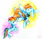 filly highres liaaqila rainbow_dash traditional_art windy_whistles