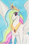 highres princess_celestia sparkleforever traditional_art