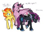 nyx original_character princess_twilight shipping spectralunicorn sunlight sunset_shimmer twilight_sparkle