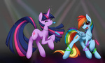 glasses rainbow_dash rave smittyg sunglasses twilight_sparkle