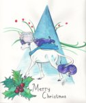 christmas hat highres holly rarity sagastuff94 snow traditional_art