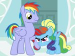 beavernator filly manecut parents rainbow_dad rainbow_dash rainbow_dash_always_dresses_in_style