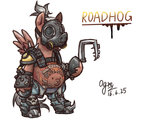 crossover ogre overwatch ponified roadhog weapon