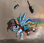 atryl cap crossover dog_tag headphones rainbow_dash scout team_fortress_2