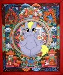 artist_unknown buddha crossover derpy_hooves mythology