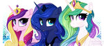 highres princess_cadance princess_celestia princess_luna vird-gi