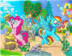 andy_price apple_bloom apples balloon bubble cake cauldron gummy mushroom pinkie_pie rainbow_dash record tank zecora
