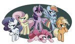 absurdres applejack fluttershy highres kindakismet main_six pinkie_pie princess_twilight rainbow_dash rarity twilight_sparkle