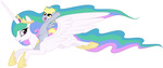 derpy_hooves highres pony_ride_the_pony princess_celestia riding tenchisamoshi transparent