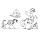 apple_bloom baroncoon cloud cutie_mark_crusaders scootaloo scooter sweetie_belle traditional_art