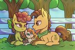 background_ponies filly grand_pear pear_butter shungire