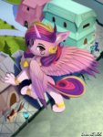 discordthege highres princess_cadance species_swap sphinx