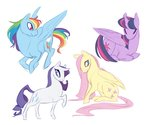 absurdres fluttershy highres khilx princess_twilight rainbow_dash rarity twilight_sparkle