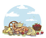 amy-gamy applejack apples boots sleeping