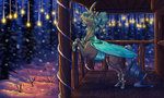 changeling earthsong9405 highres nighttime original_character snow trees winter