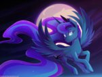 absurdres flying highres moon nighttime princess_luna thenornonthego