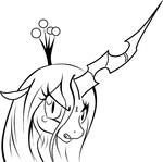 lineart queen_chrysalis taekwon-magic