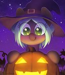 celebi-yoshi hat original_character pumpkin witch