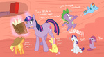 applejack cartoonlion comic filly fluttershy main_six pinkamena_diane_pie pinkie_pie rainbow_dash rarity spell spike twilight_sparkle