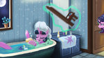 bath bathtub chair flowers hierozaki highres magic princess_celestia princess_luna princess_twilight singing starlight_glimmer twilight_sparkle water