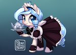 dress maid original_character starshinebeast sugar teacup teapot tray