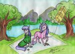 horselike kite maud_pie sagastuff94 starlight_glimmer traditional_art tree