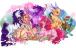 applejack cigarscigarettes fluttershy highres magic main_six pinkie_pie rainbow_dash rarity transparent twilight_sparkle