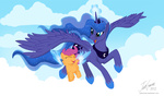 flight_spell joshcraven princess_luna scootaffection scootaloo wings