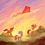 absurdres apple_bloom cutie_mark_crusaders highres kite scootaloo sharedast sweetie_belle