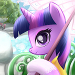 madmax portrait twilight_sparkle umbrella