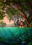 absurdres angel apples bird birdhouse butterfly fish fluttershy highres seaponies yakovlev-vad