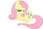 angel fim_crew fluttershy g1 generation_leap highres lauren_faust posey quanno3 transparent vector