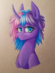 absurdres g3 highres traditional_art twilight_twinkle waterferret