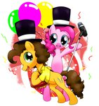 accordion cheese_sandwich hat highres hoyeechun microphone pinkie_pie tophat
