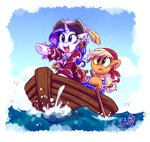 applejack boat lowres not_that_kind_of_shipping pirate rarijack-daily rarity whitediamonds