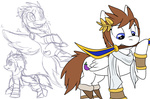 dt-fox kid_icarus nintendo pit ponified sketch weapon