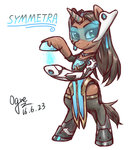 crossover highres ogre overwatch ponified symmetra