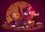 book capnpea coffee globe inkwell mug paper quill twilight_sparkle