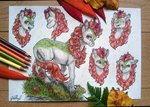 autumn_blaze gaelledragons highres kirin traditional_art