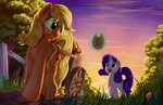 applejack apples cart grennadder highres magic rarity