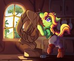 clothes crossover highres leah ponified saxopi sculpture stardew_valley