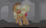 apple_bloom applejack rain ratofdrawn wet_hair